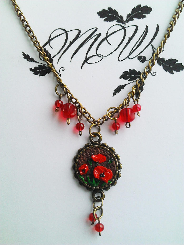 Tiny Poppies Necklace by soophieO