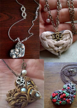 All Mysterious Key and Heart Pendants