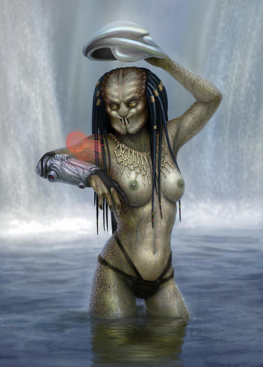 Predator girl in nuket picture can