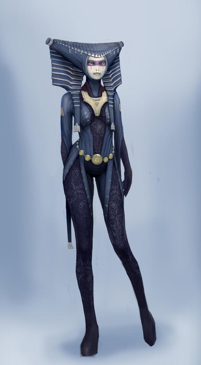 Alien female by IlyaSuhoi