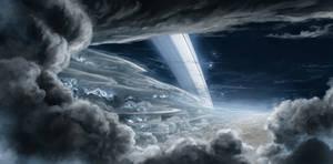 Stormy Saturn night