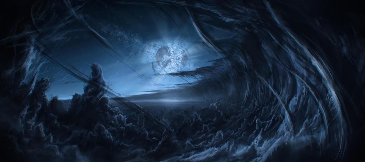 In the shadow of the broken moon