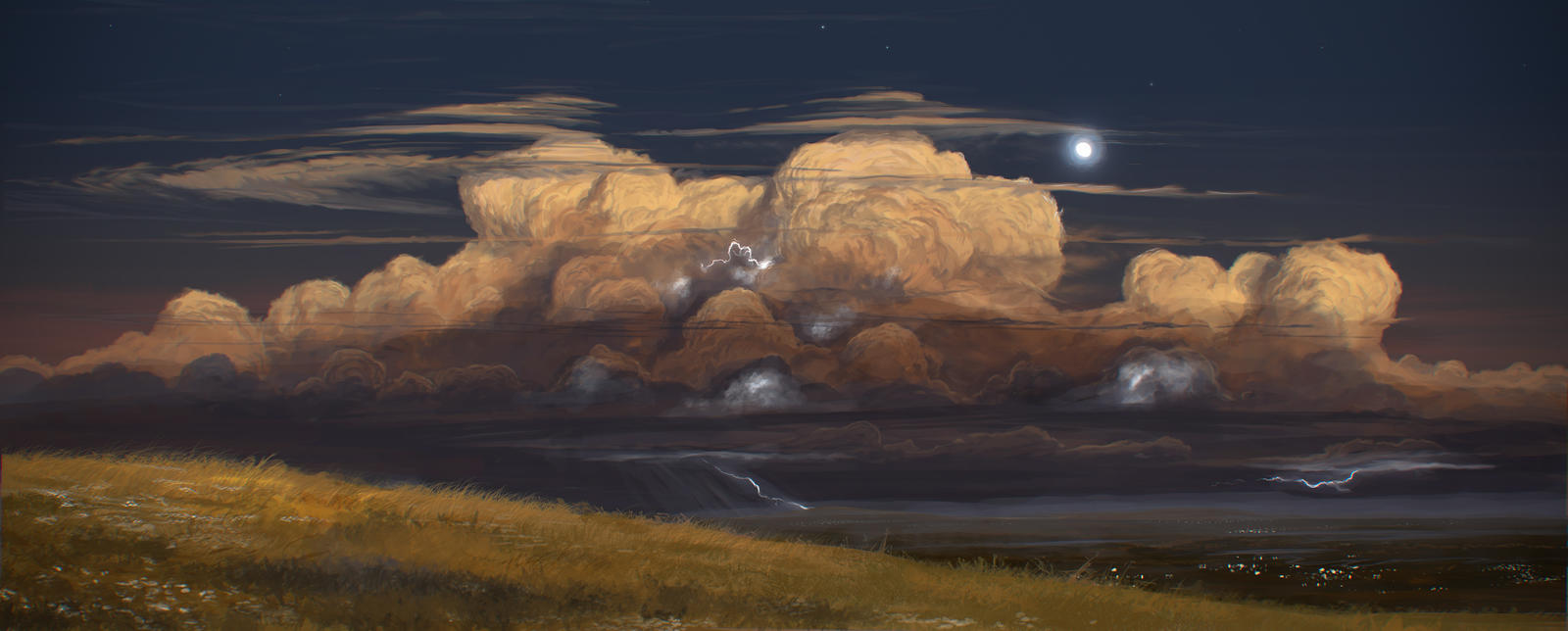 Evening storm by JustV23
