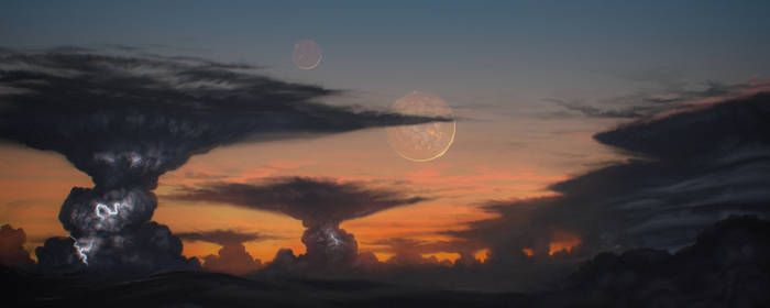 Volcanic moons