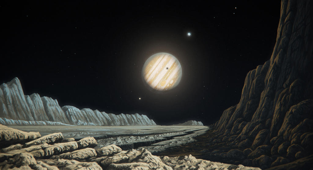 What does jupiter look like from saturn