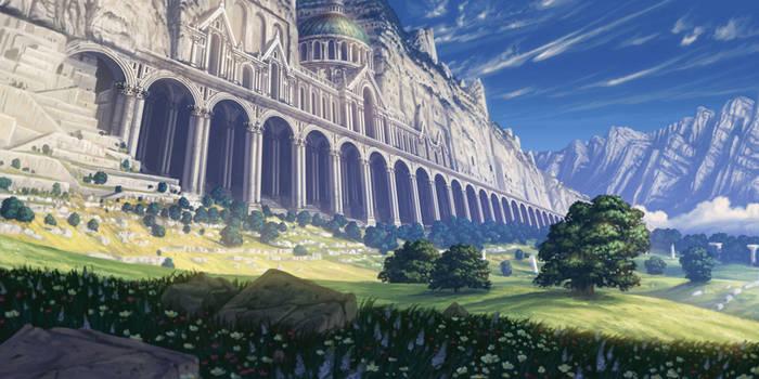 Cliffside ruins
