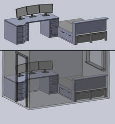 New Desk/Room WIP1 by steveee