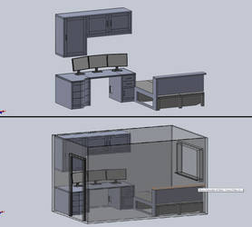 New Desk/Room WIP2 by steveee