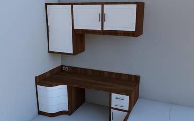 New Desk/Room WIP Render 2 by steveee