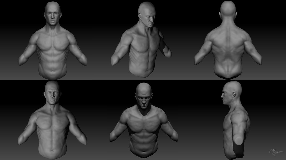 First Anatomy Practice on ZBrush by EdgarGomezArt on DeviantArt