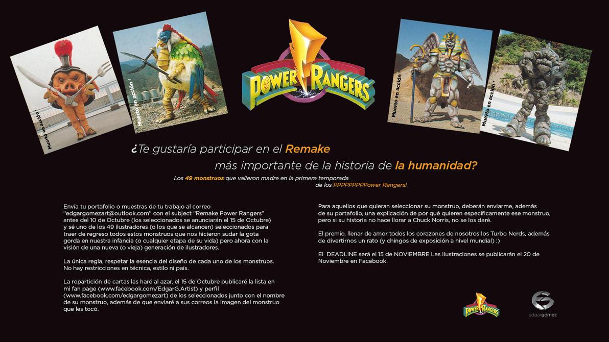 RemakePowerRangers by EdgarGomezArt
