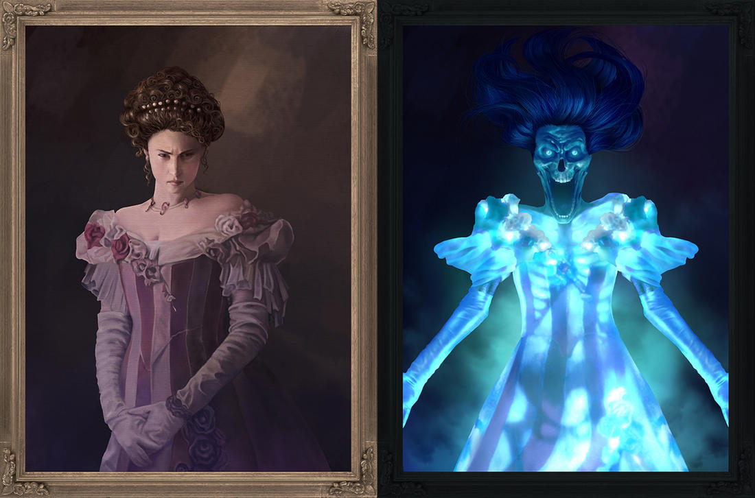 The ghost in the painting by EdgarGomezArt