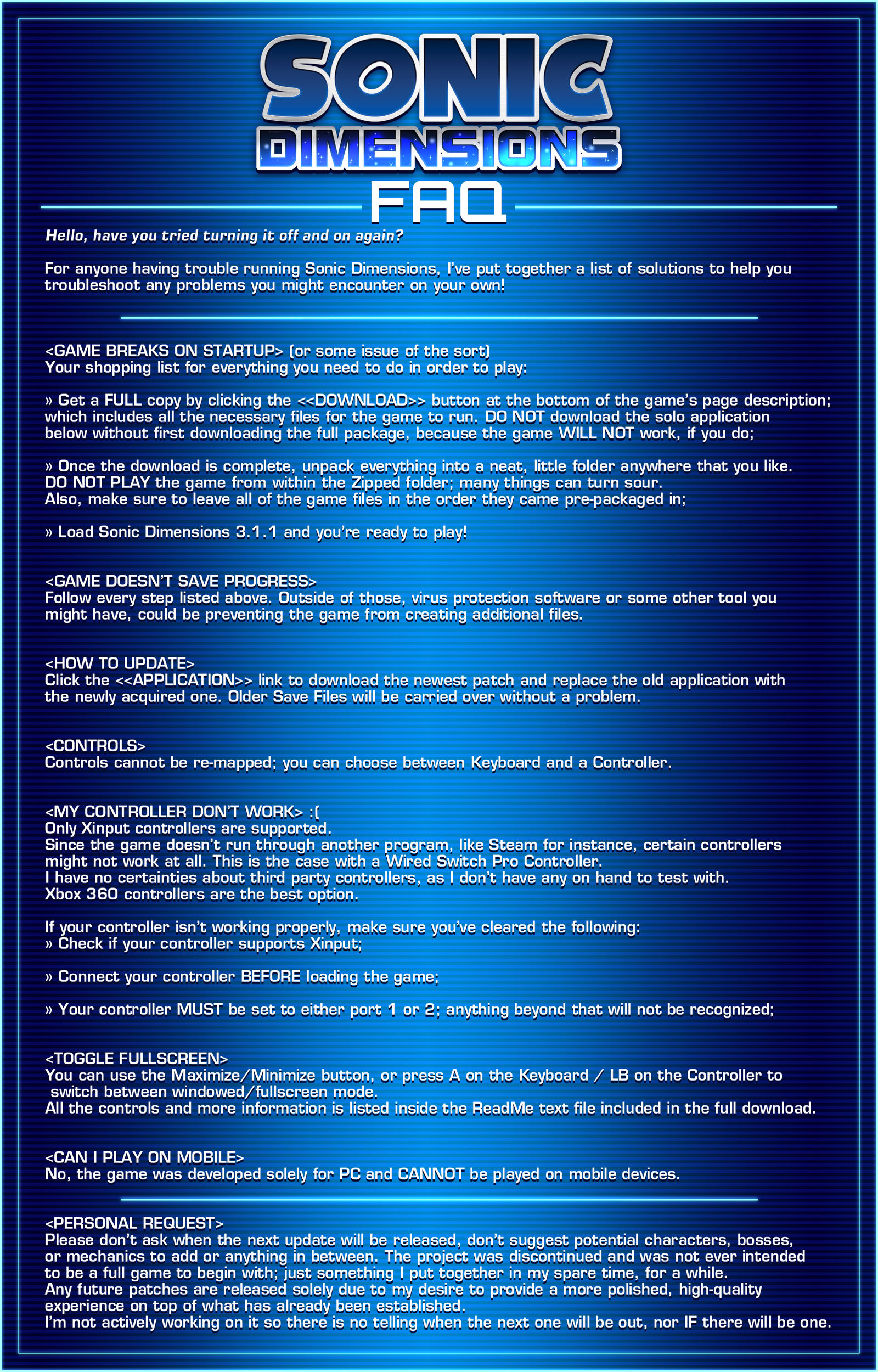 Sonic Dimensions FAQ by Phantom-Radea on DeviantArt