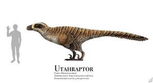 Utahraptor by PrehistoryByLiam