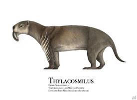 Thylacosmilus by PrehistoryByLiam