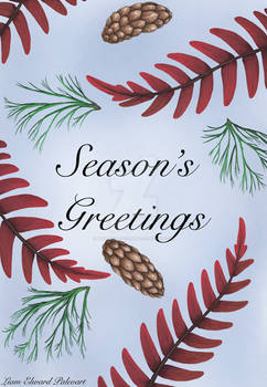 Holiday Card Featuring Early Triassic Flora