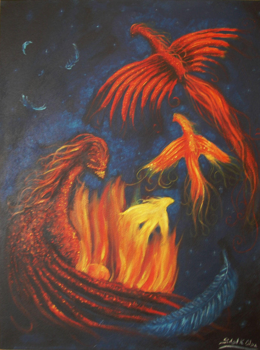 Phoenixes by blackrosepetal