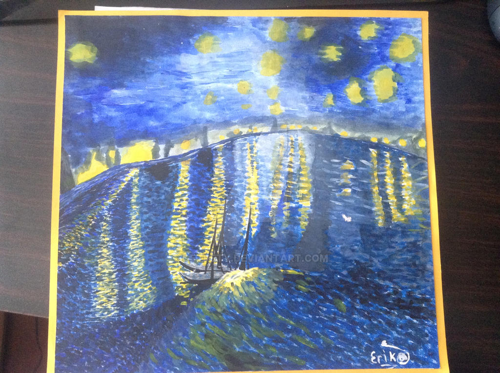 Starry Night over the Rhone - Vincent van Gogh by getrety ...