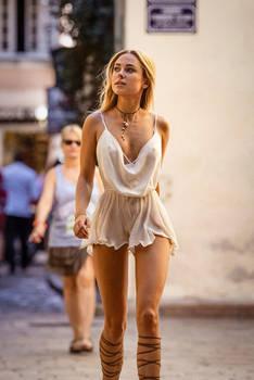 Kimberley Garner channeling Athena in St. Tropez