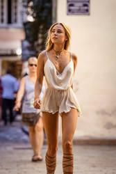 Kimberley Garner channeling Athena in St. Tropez by sotu31