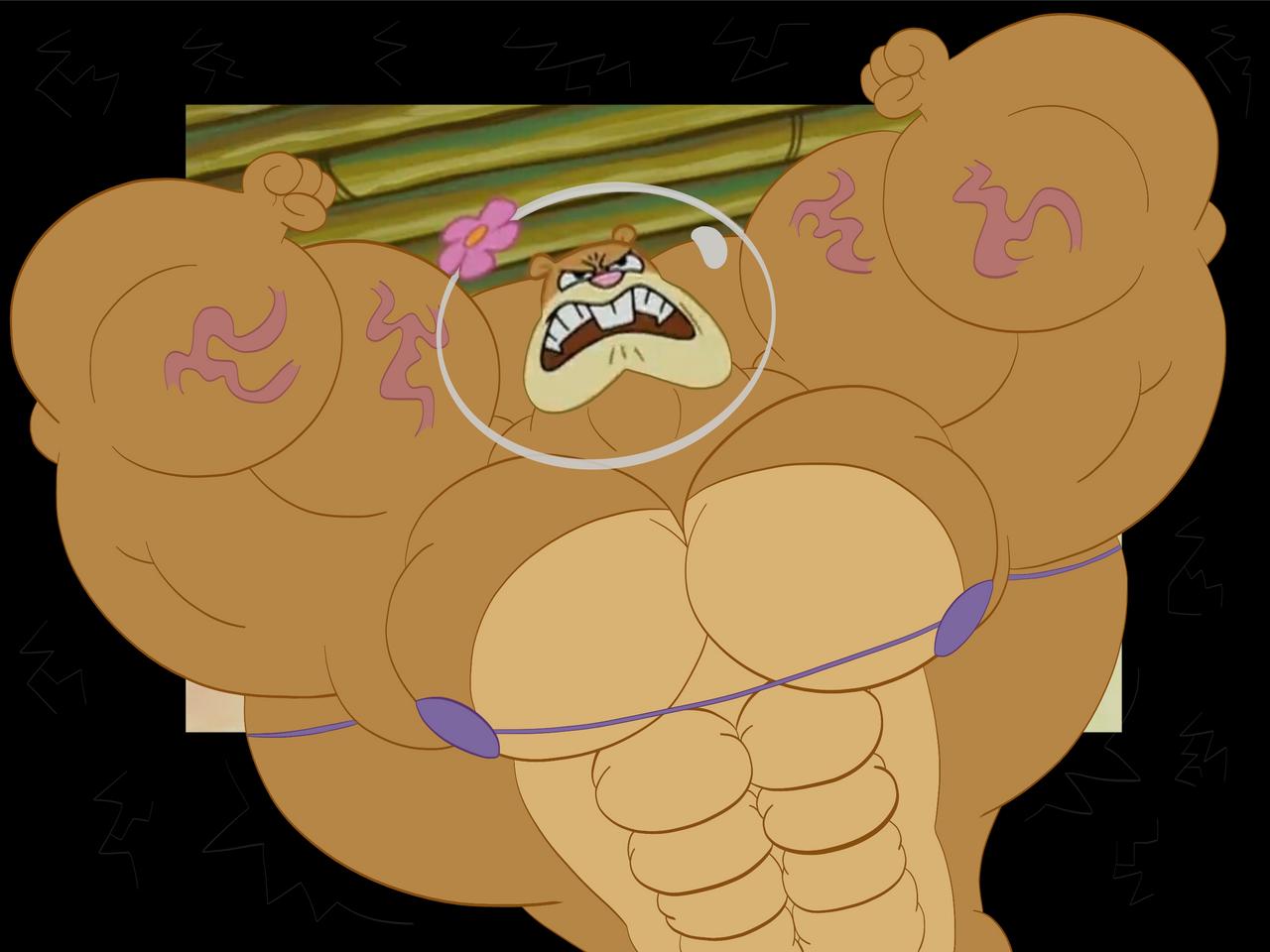 sandy cheeks muscle