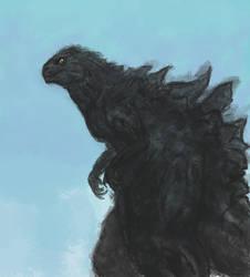 Godzilla - Oil Paint Style by Pulsarium