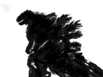 Godzilla Doodle 8/26 2 by Pulsarium