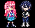 Miyu Y Daisuke Pixel Doll