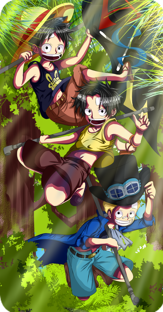 Ace Sabo And Luffy by izzym19 on DeviantArt