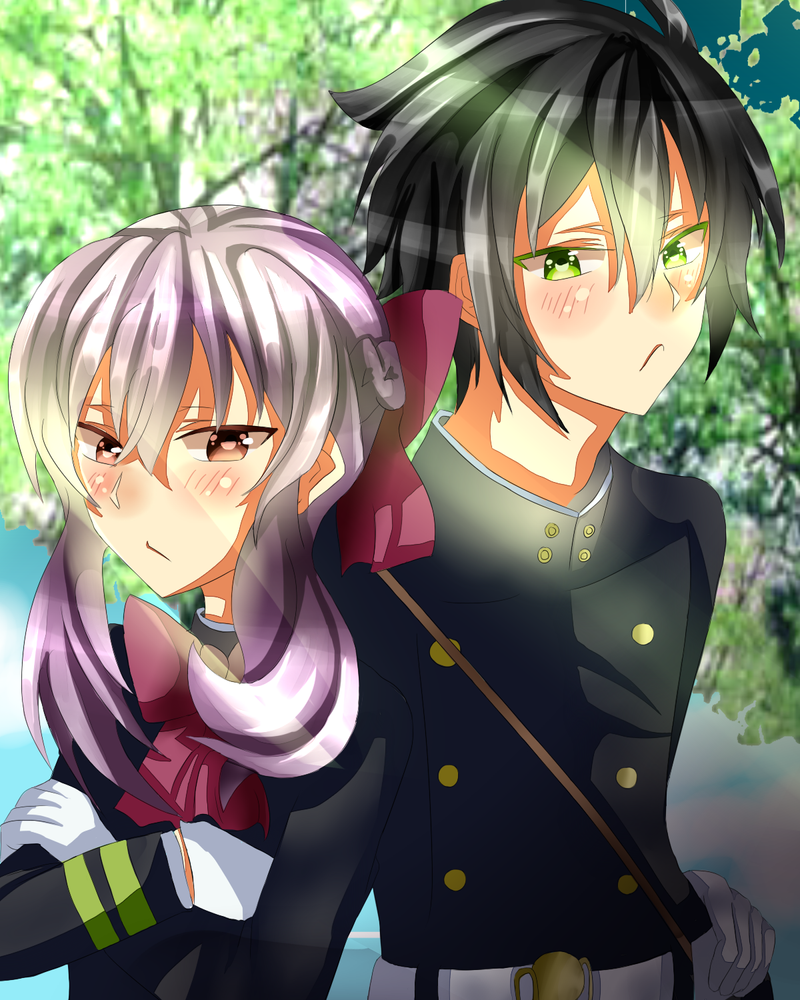 (AT) Yuichiro and Shinoa (spped paint) by izzym19