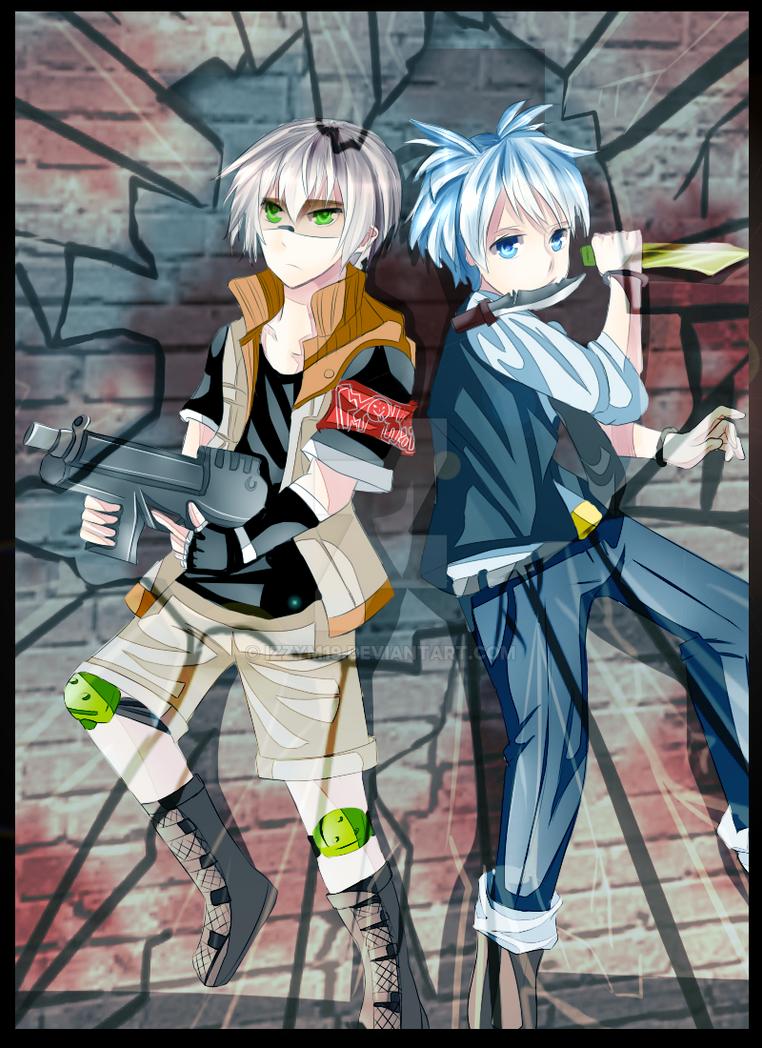 Nagisa and Hotaru by izzym19