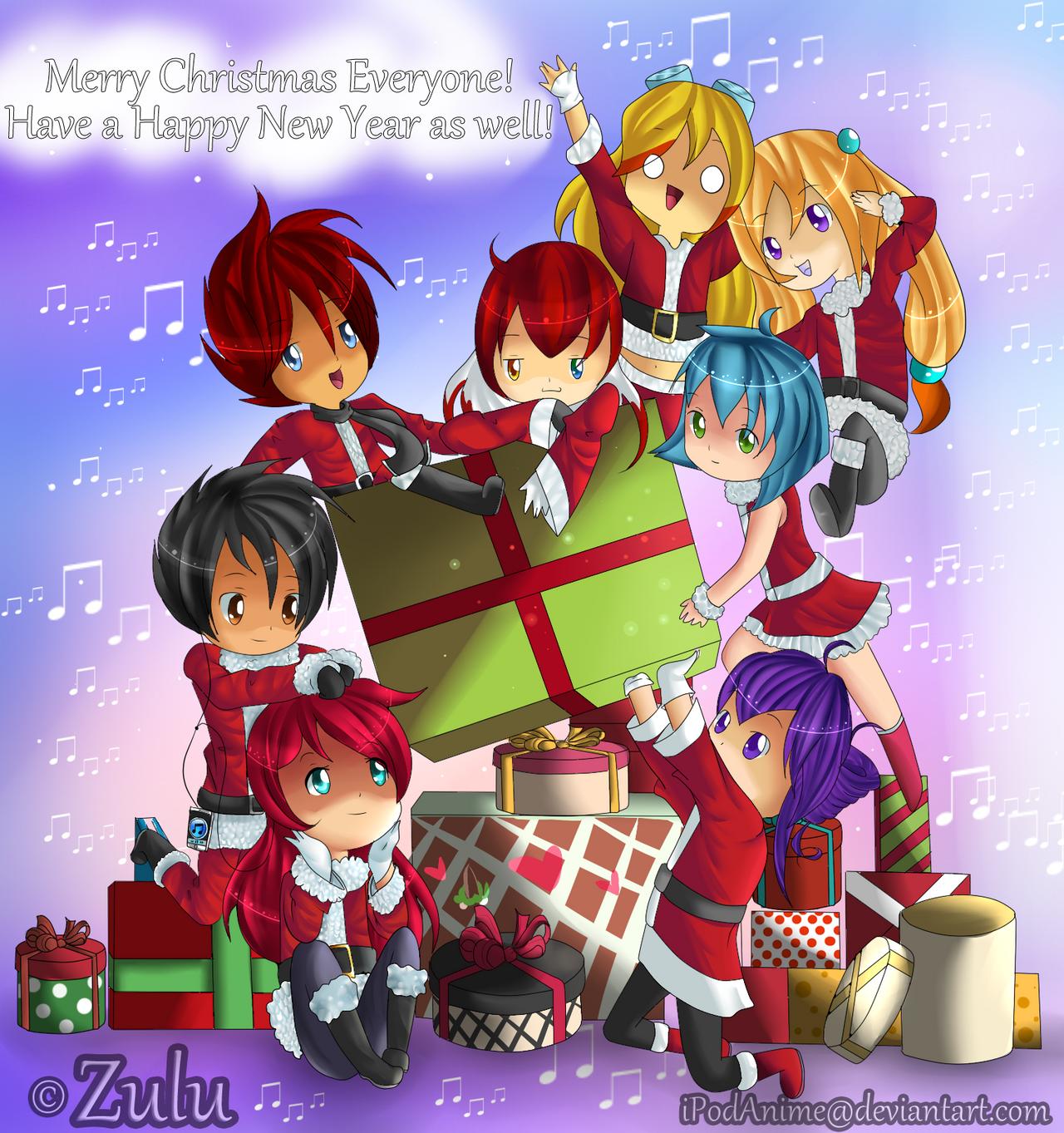 Happy Holidays :3 .:SPEEDPAINT:. by riicebunnii