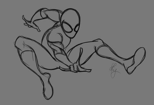 Spiderman pose