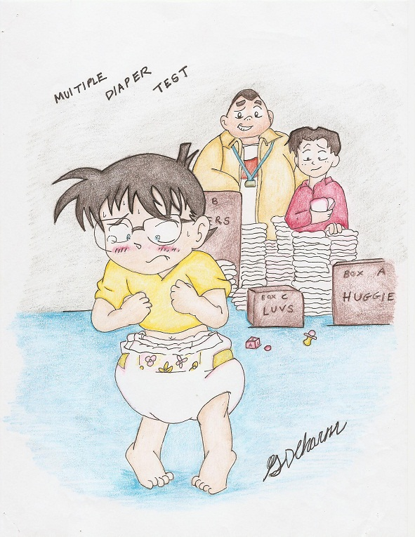 anime characters in diapers conan's multiple diapers (request)sdcharm on deviantart