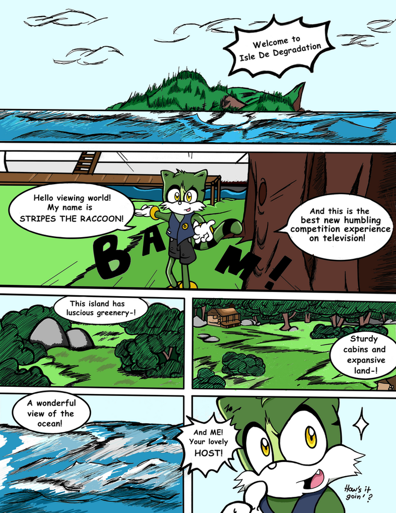 Sonic Survivor Island - Pg.1: Welcome! by SDCharm