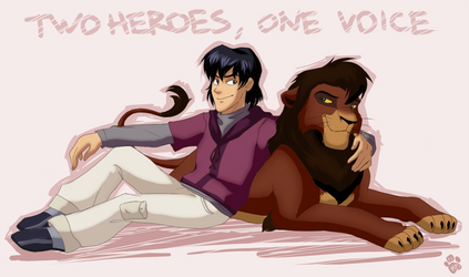 Two heroes, one voice
