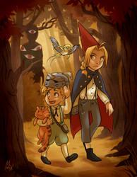 Alchemists over the Garden Wall by Mistrel-Fox