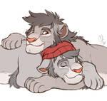 lion cuddles