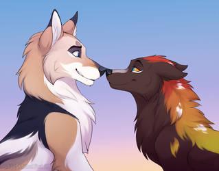 YCH for Fenrirhound by Mistrel-Fox