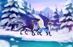 [CM] Aqua and Shadow by Mistrel-Fox