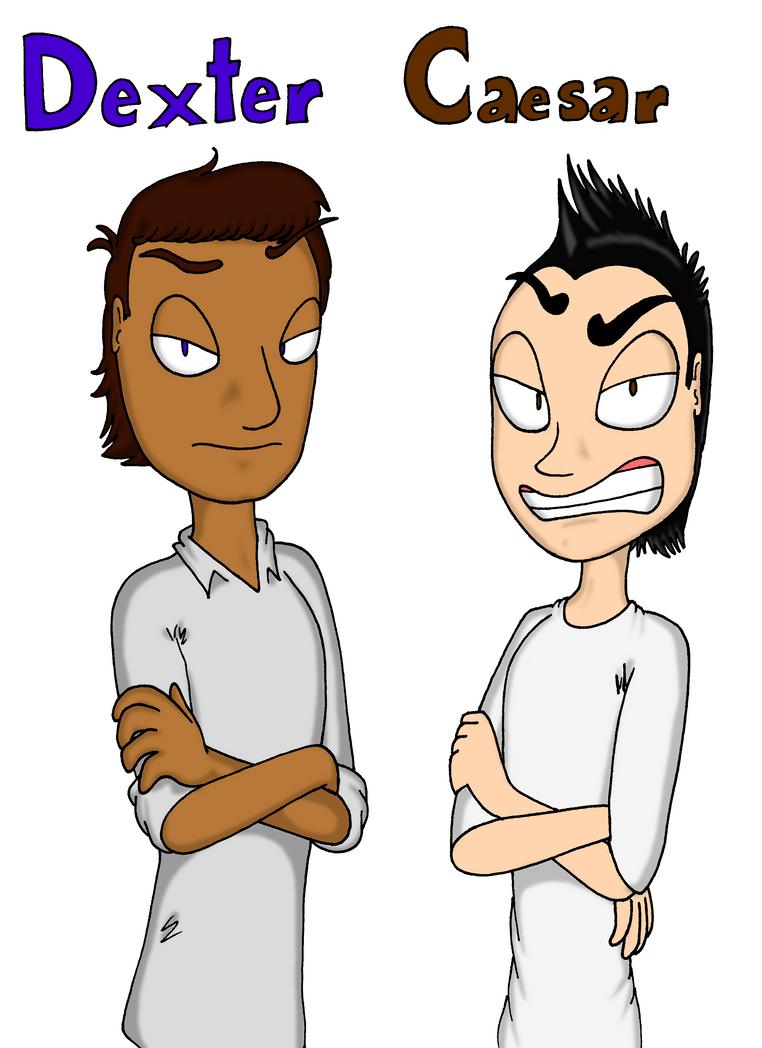 Human Dexter And Caesar By Yo Snap On Deviantart