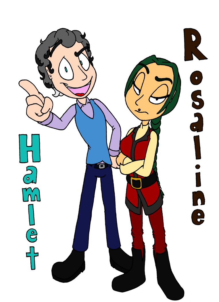 Human Hamlet and Rosaline by Yo-Snap
