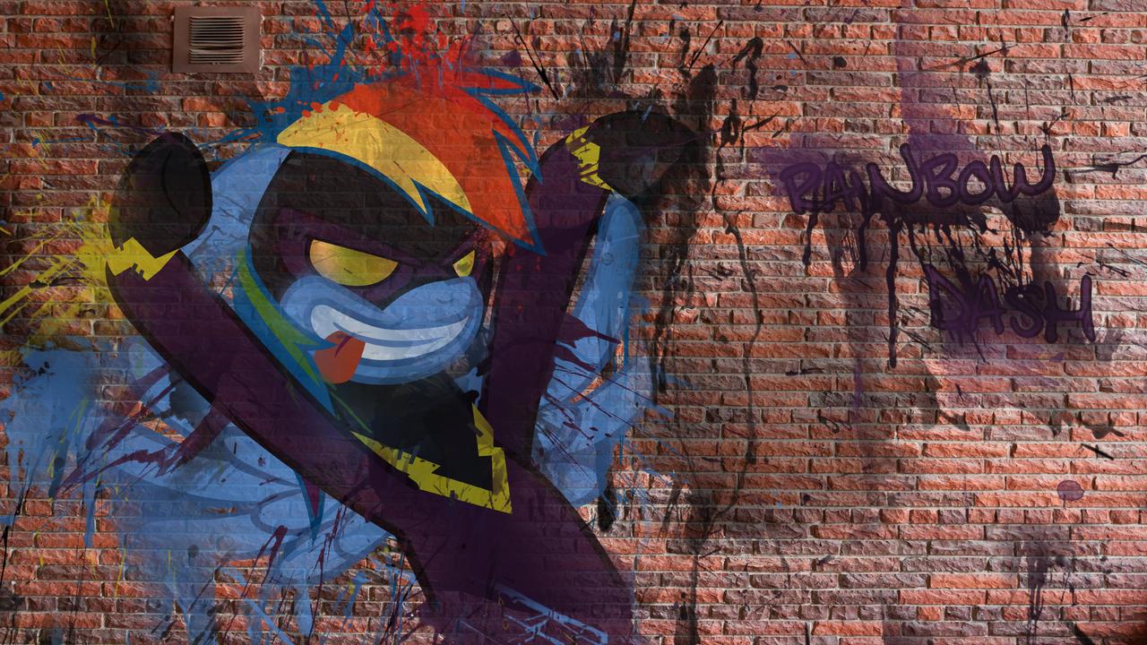 Rainbow Graffiti Wallpaper by aruigus808