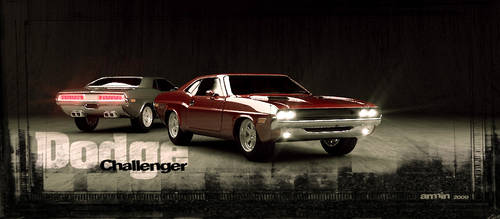 Dodge Challenger by Redcrawling