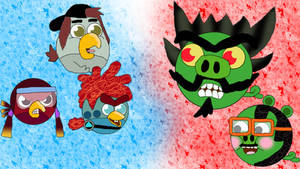 Penn Zero characters in Angry Birds Style!