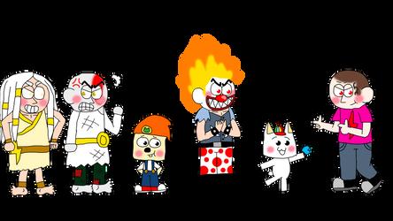 PSASBR Kids AU characters cast 3 by Princess-Sackboy3659