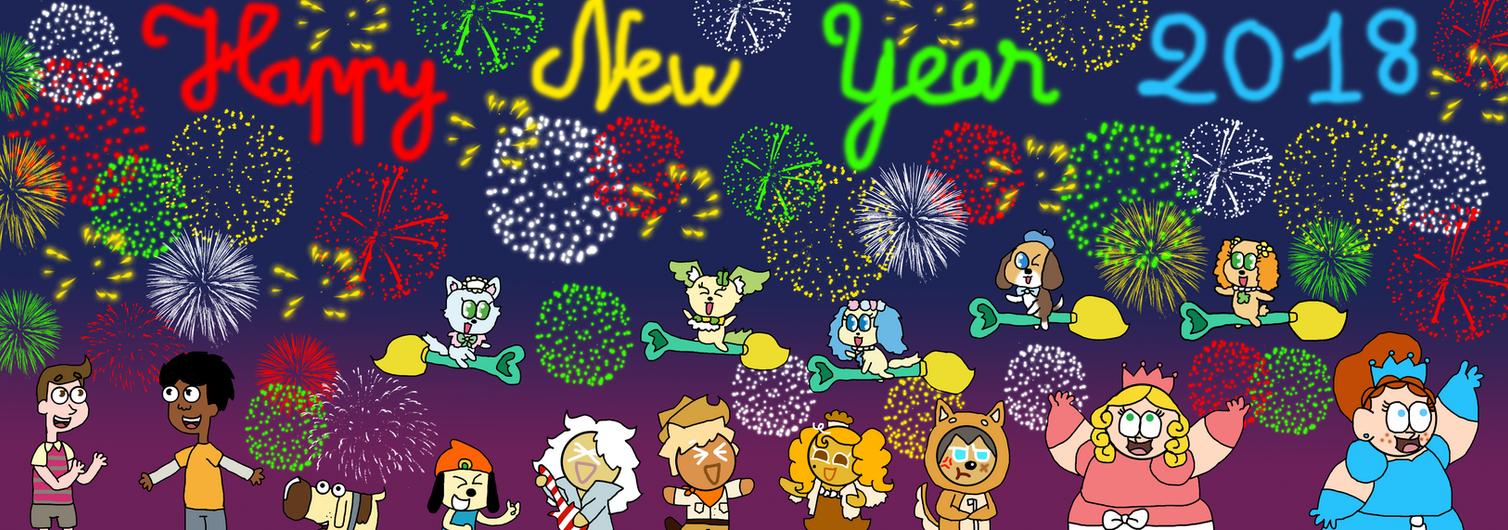 Happy New Year 2018 by Princess-Sackboy3659