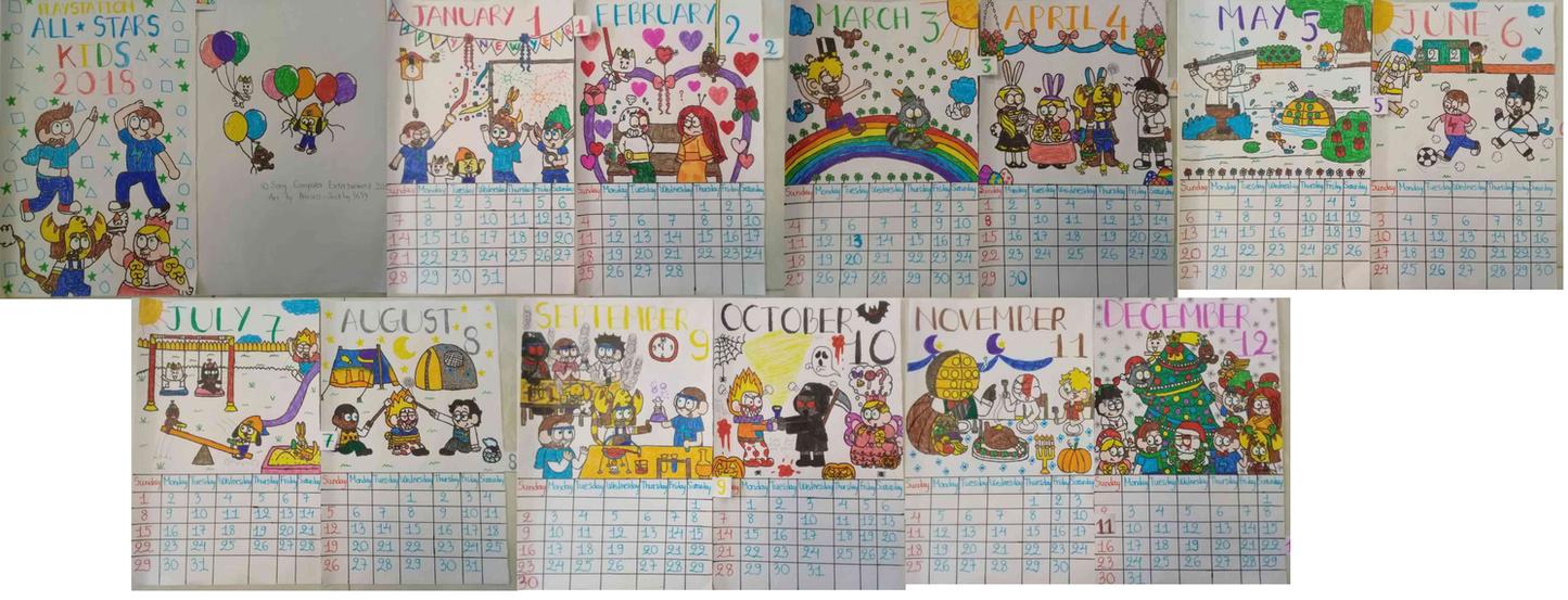 PlayStation AllStars Kids 2018 Calendar by Princess-Sackboy3659