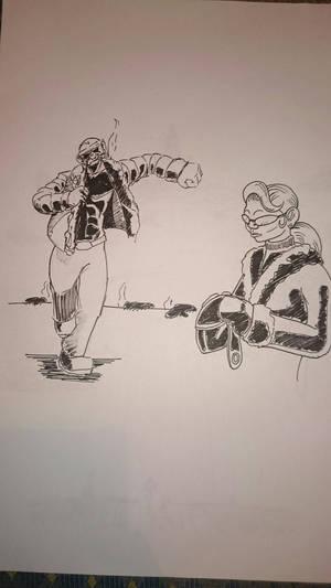 funky monkey Inktober #7