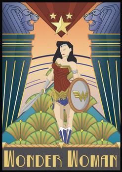 Art Deco Wonder Woman